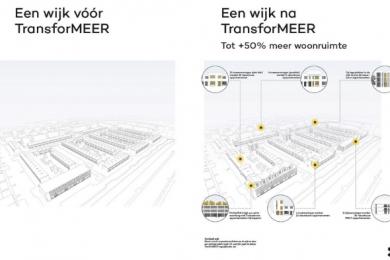 Tot wel 50% meer woningen in de bestaande wijk. TransforMEER met elk®
